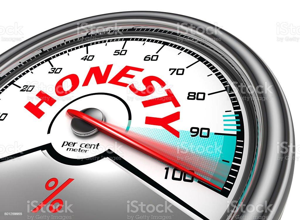 honesty per cent meter stock photo