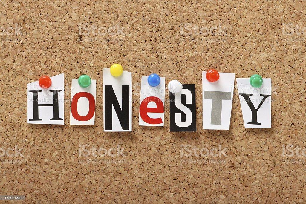 Honesty royalty-free stock photo