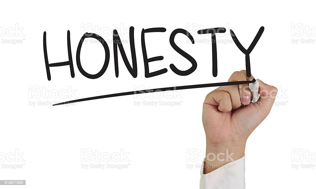 Honesty stock photo