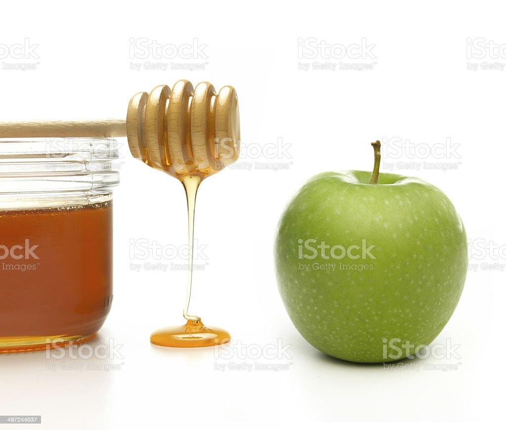 Honey and Apple stock photo