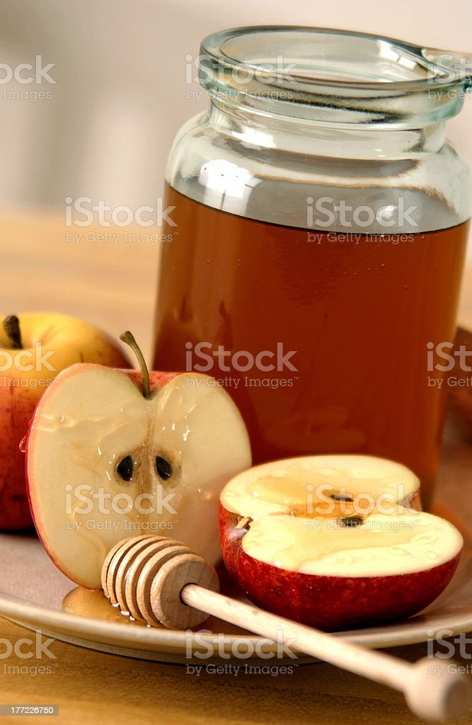 Honey and apples royalty-free stock photo