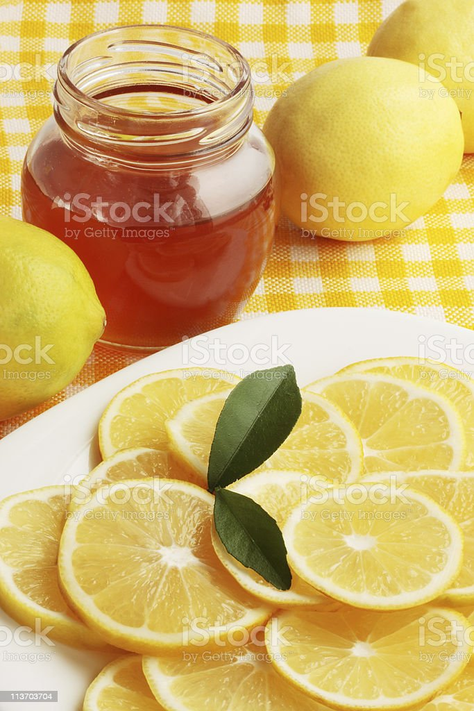 honey and  lemon royalty-free stock photo
