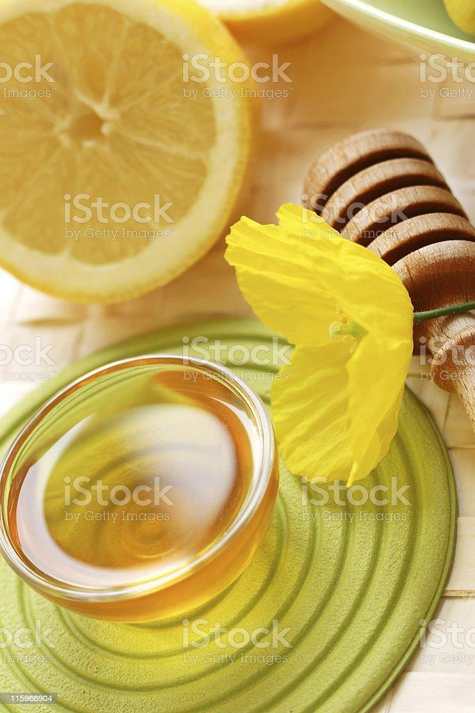 honey and lemon royalty-free stock photo