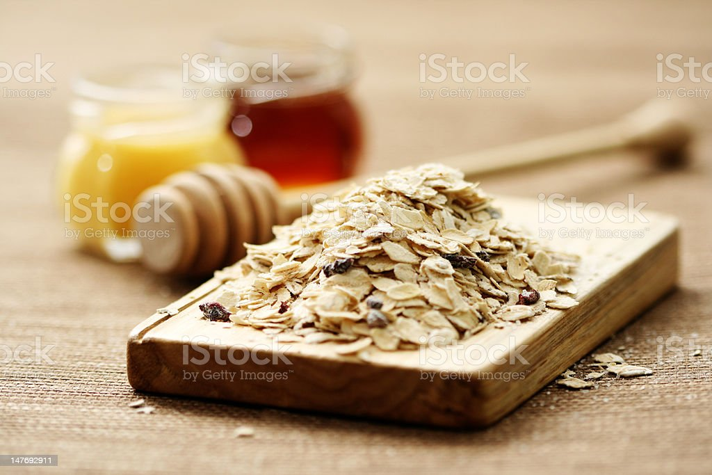 honey and oatmeal royalty-free stock photo