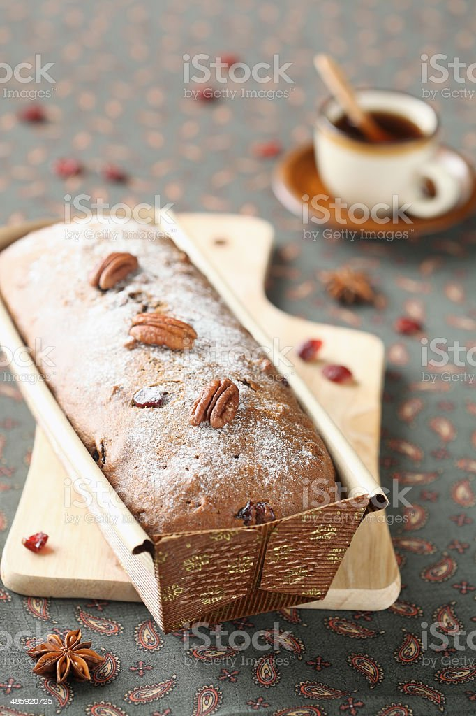 Honey and Spice Loaf Cake stock photo