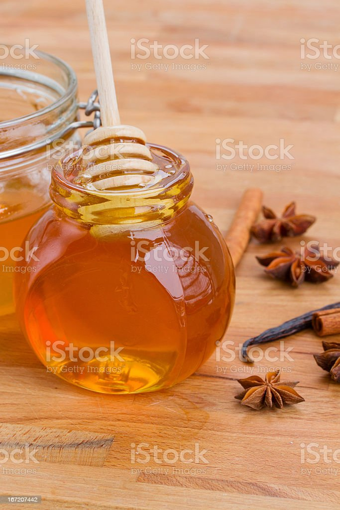 honey and spices royalty-free stock photo