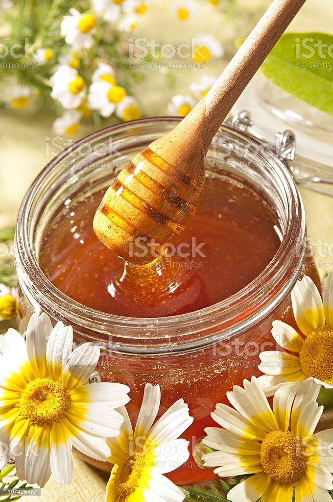 Honey and wildflowers royalty-free stock photo
