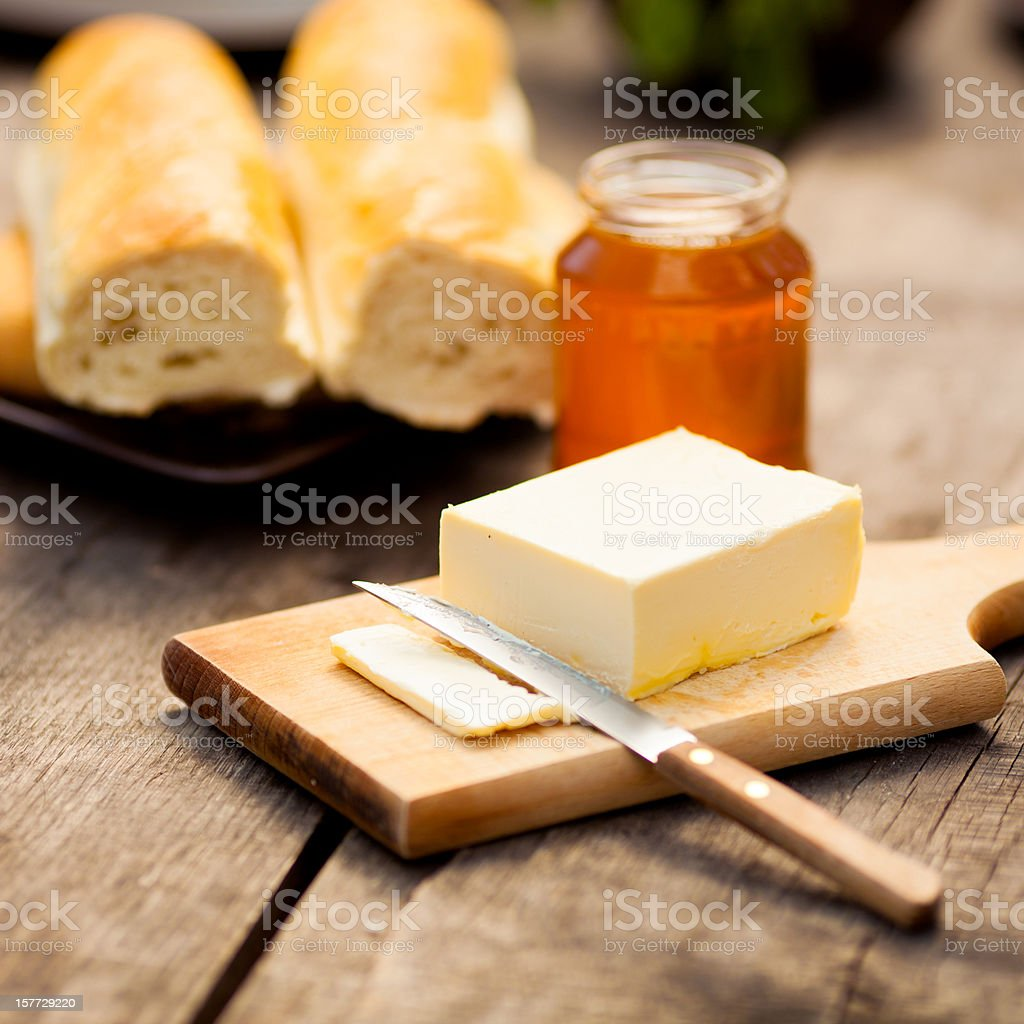 Honey breakfast stock photo