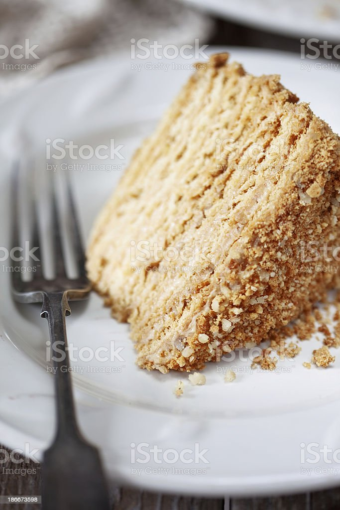 Honey cake royalty-free stock photo