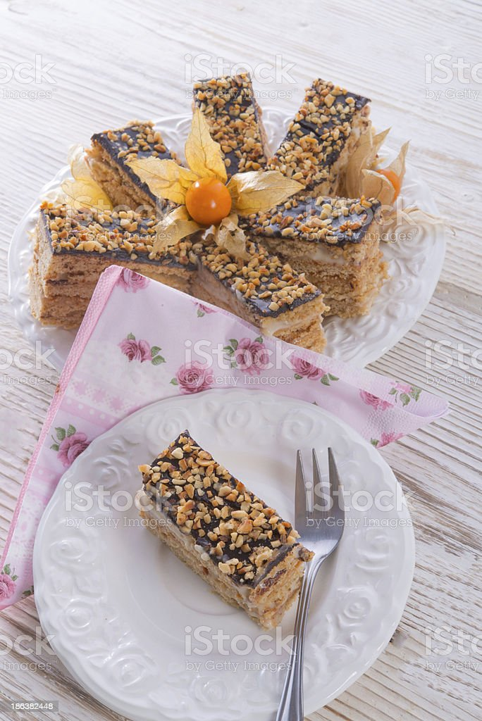 honey cakes with chocolate royalty-free stock photo