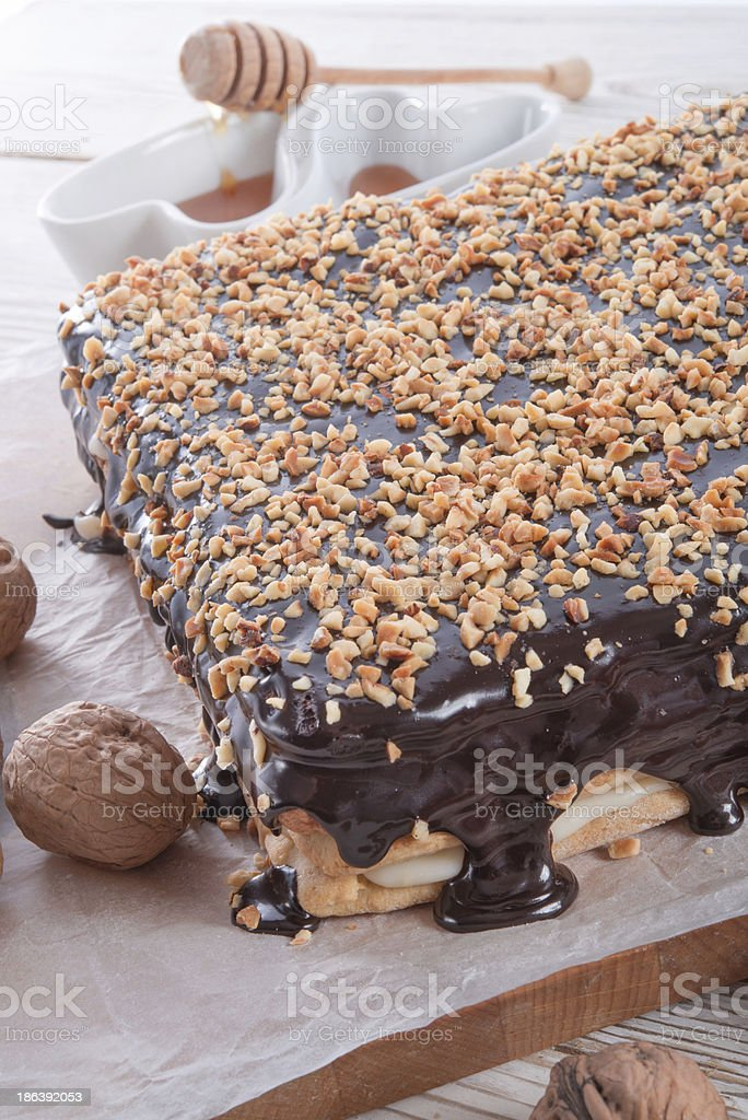 honey cakes with chocolate royalty-free stock photo