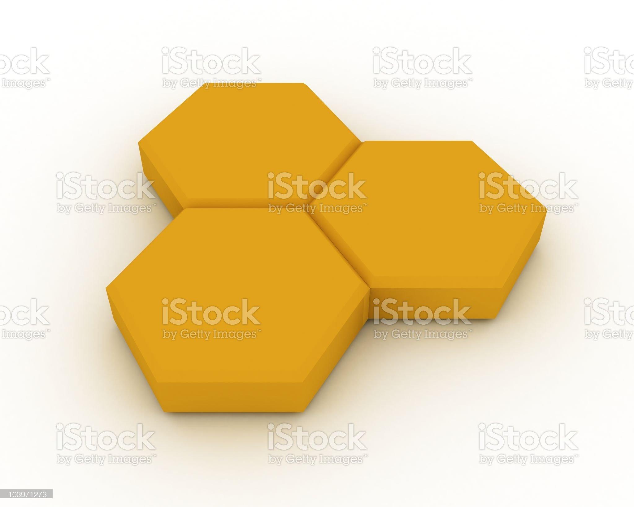 Honey Cells royalty-free stock photo