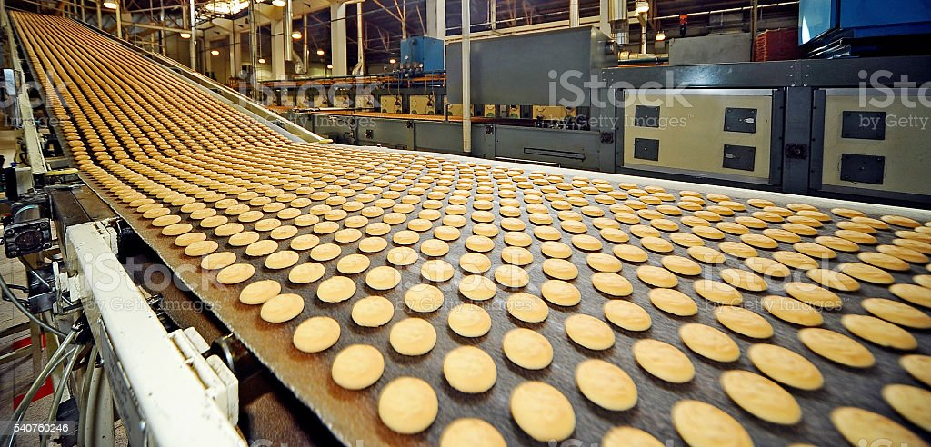 Honey cookies fresh baked stock photo