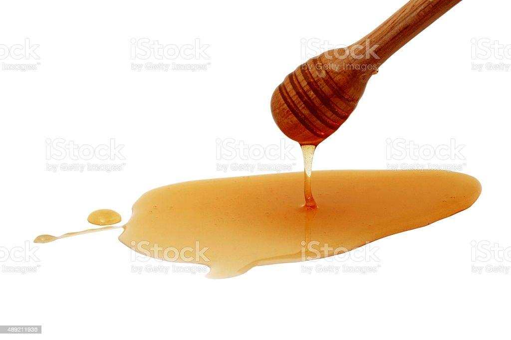 Honey drip isolated stock photo