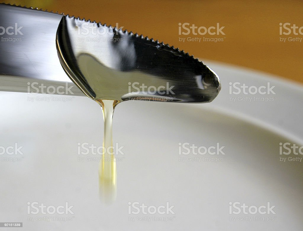 Honey Dripping stock photo