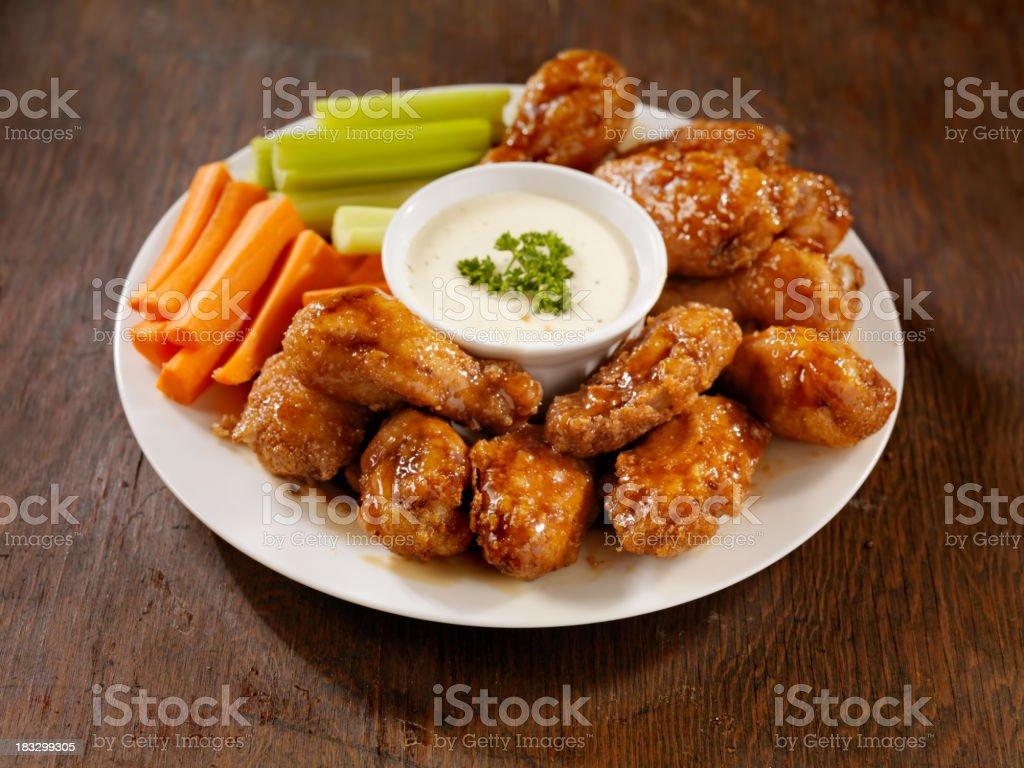 Honey Garlic Wing Platter royalty-free stock photo