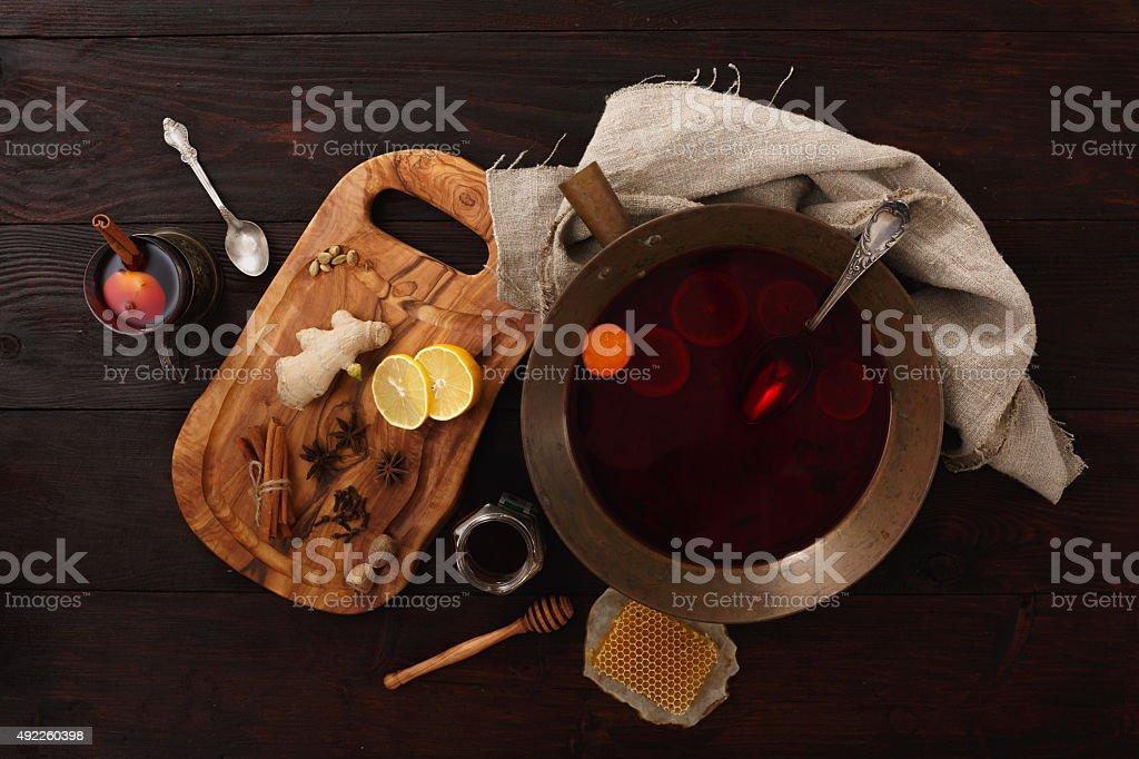 Honey ginger punch stock photo