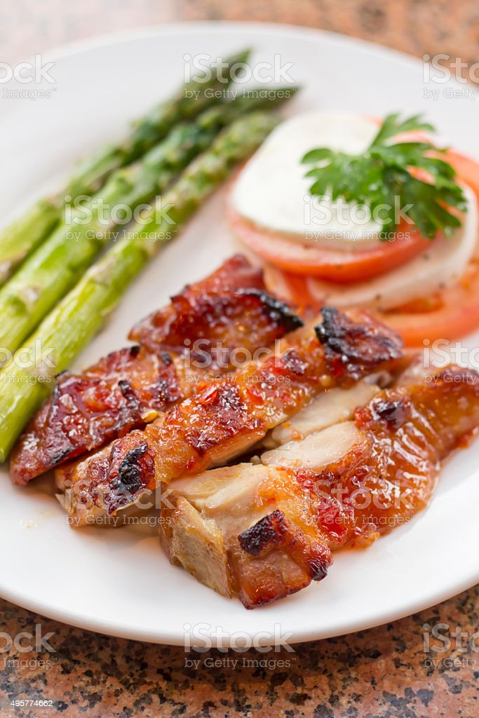 Honey Glazed Chicken stock photo