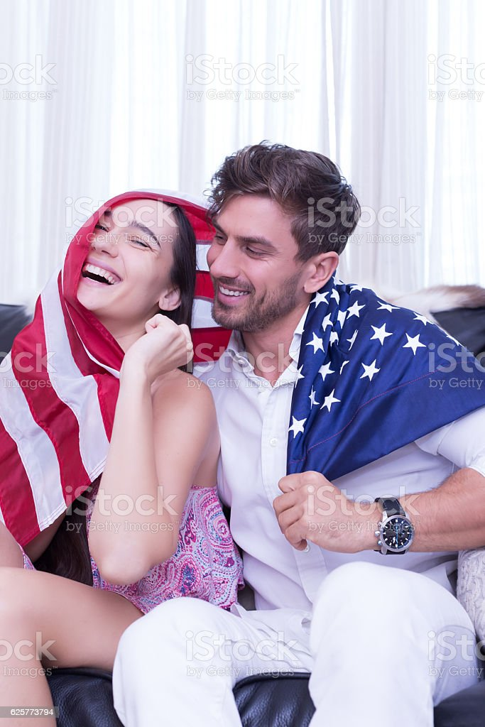 Honey I love our new home in America stock photo