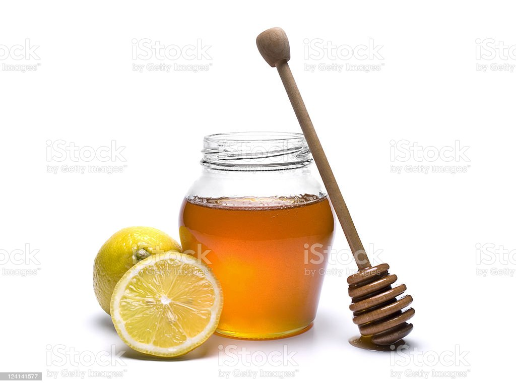 Honey jar royalty-free stock photo
