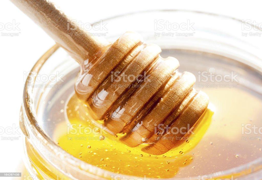 Honey jar royalty-free stock photo