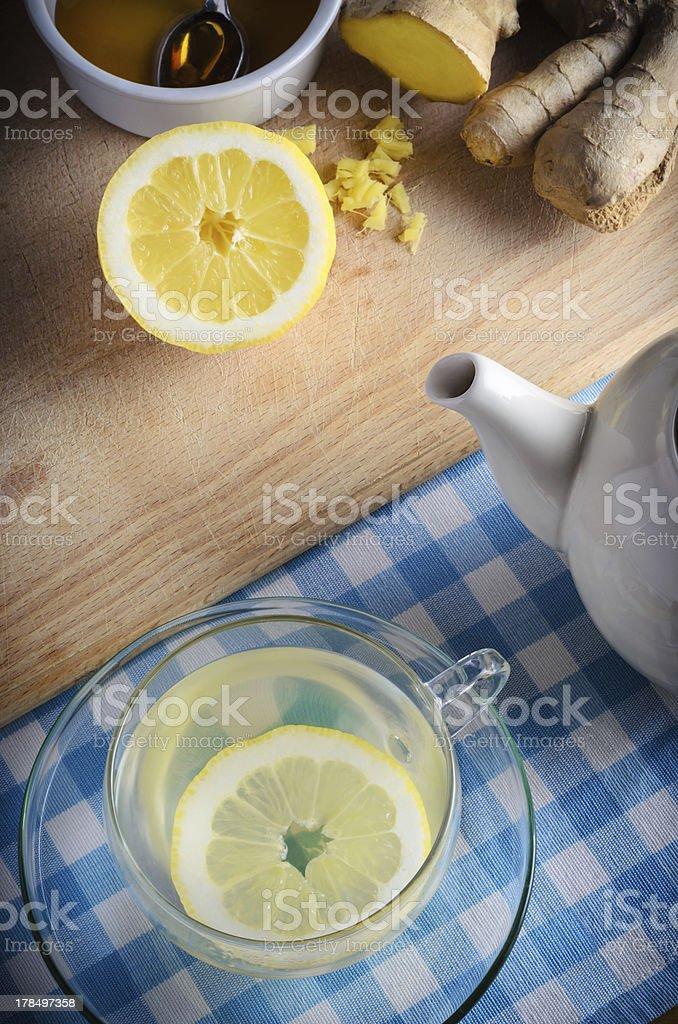 Honey, Lemon and Ginger Drink stock photo