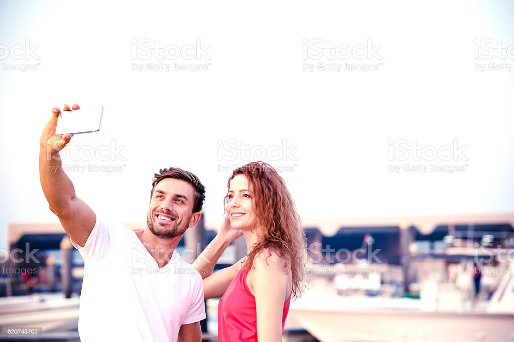 Honey, lets have a selife together stock photo