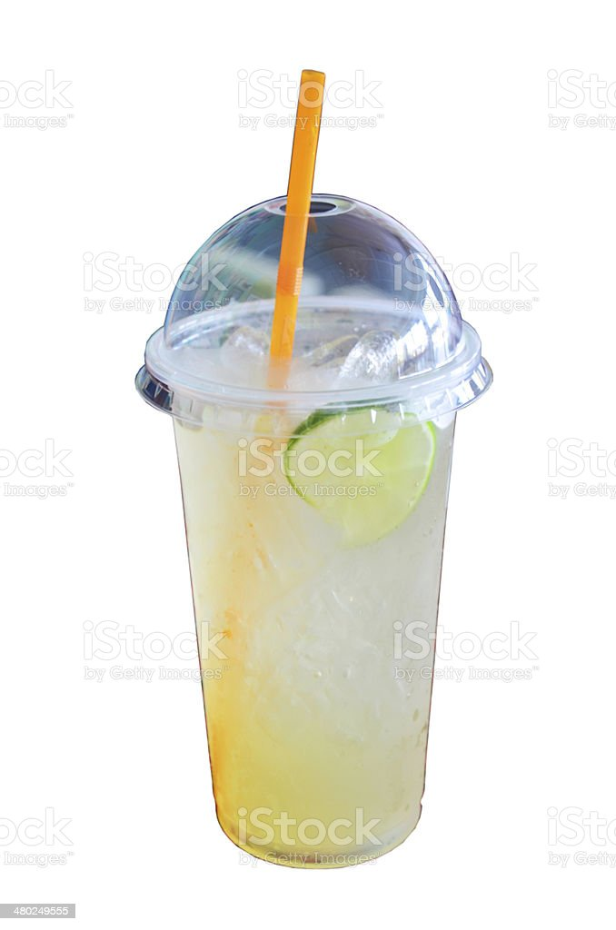 Honey Limeade with ice Drink stock photo