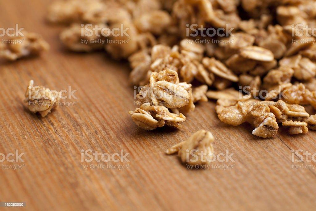 Honey roasted granola clusters stock photo