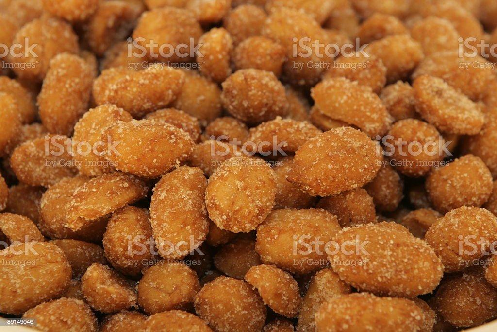 Honey Roasted Peanuts royalty-free stock photo