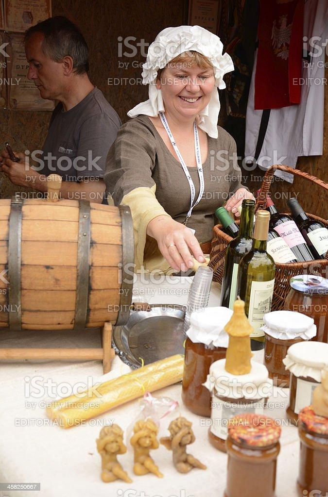 Honey saleswoman royalty-free stock photo