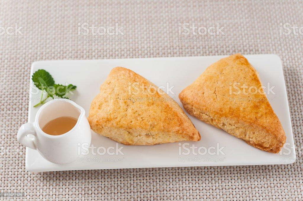 Honey scone stock photo