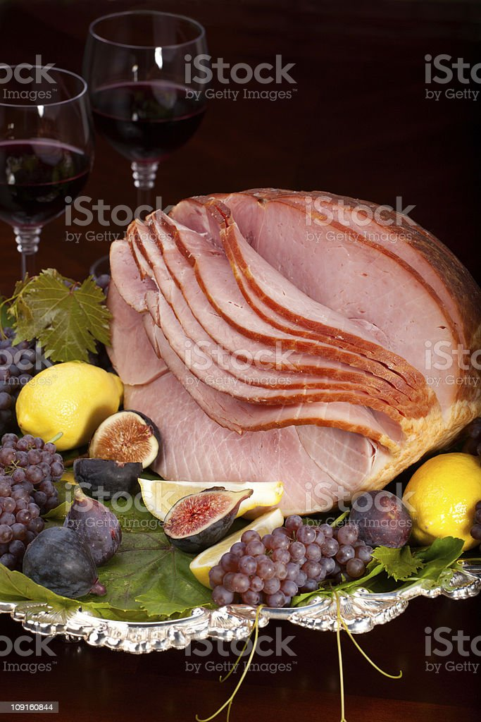 Honey Sliced Ham stock photo