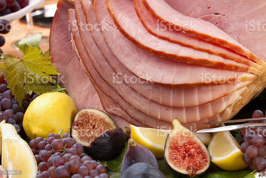Honey Sliced Ham royalty-free stock photo