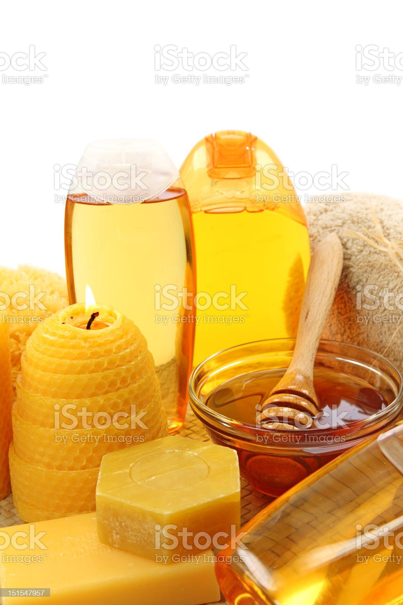 Honey spa royalty-free stock photo