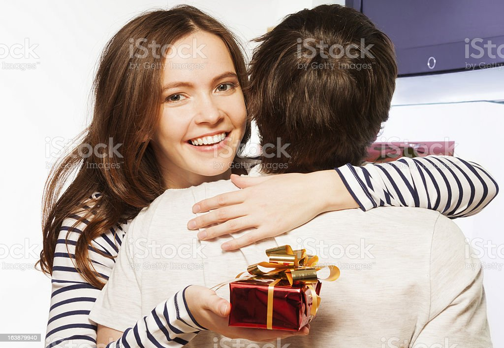 Honey, this is the present for you royalty-free stock photo