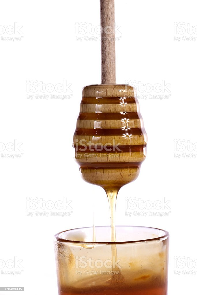 honey with dipper royalty-free stock photo
