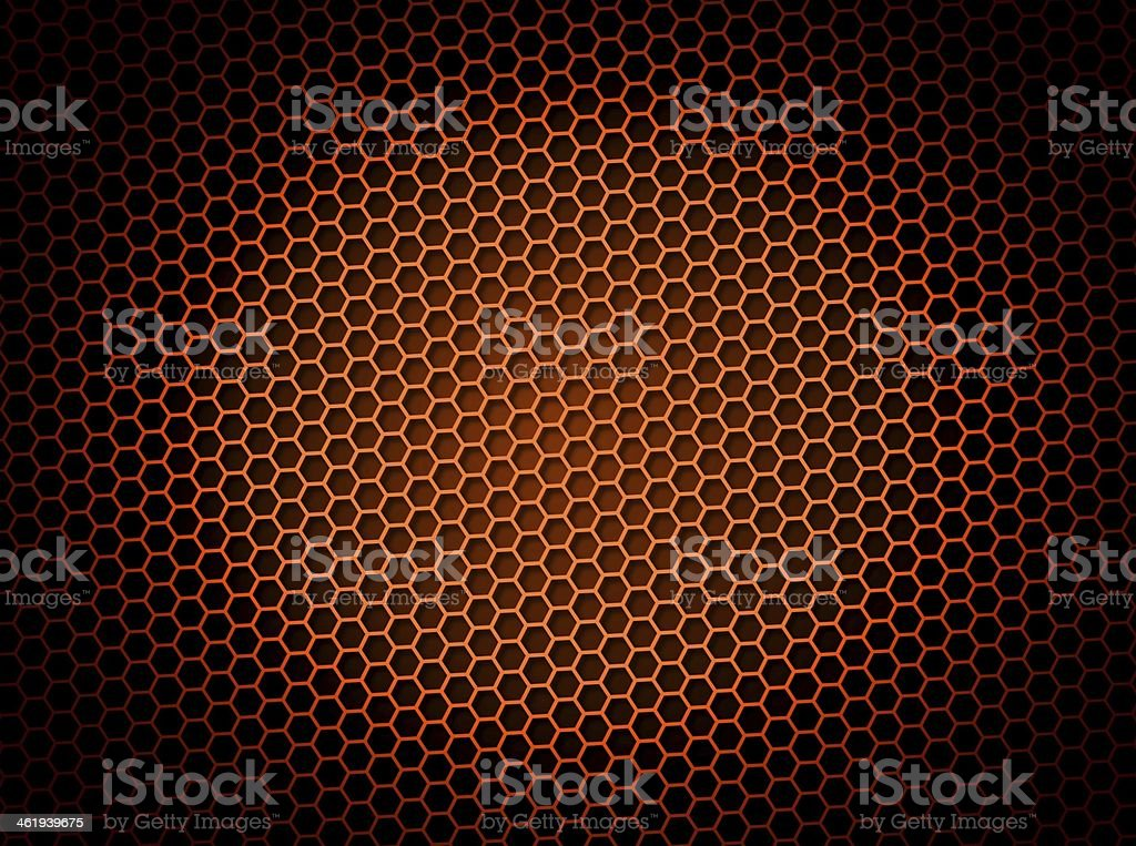 Honeycomb Background Red royalty-free stock photo