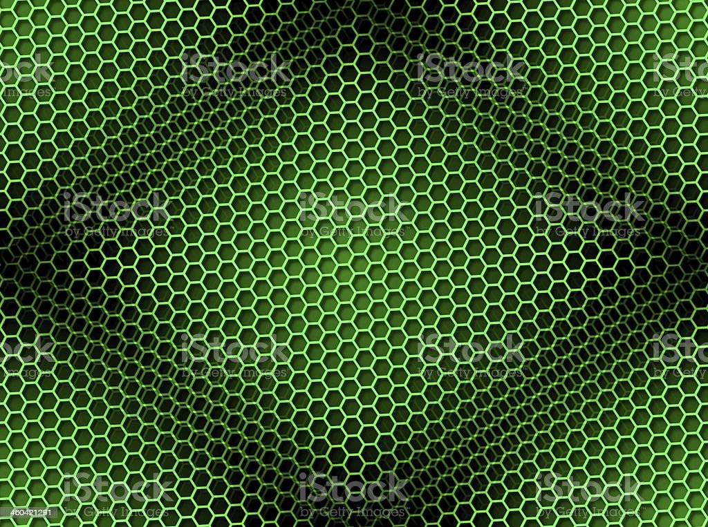 Honeycomb Background Seamless Green royalty-free stock photo