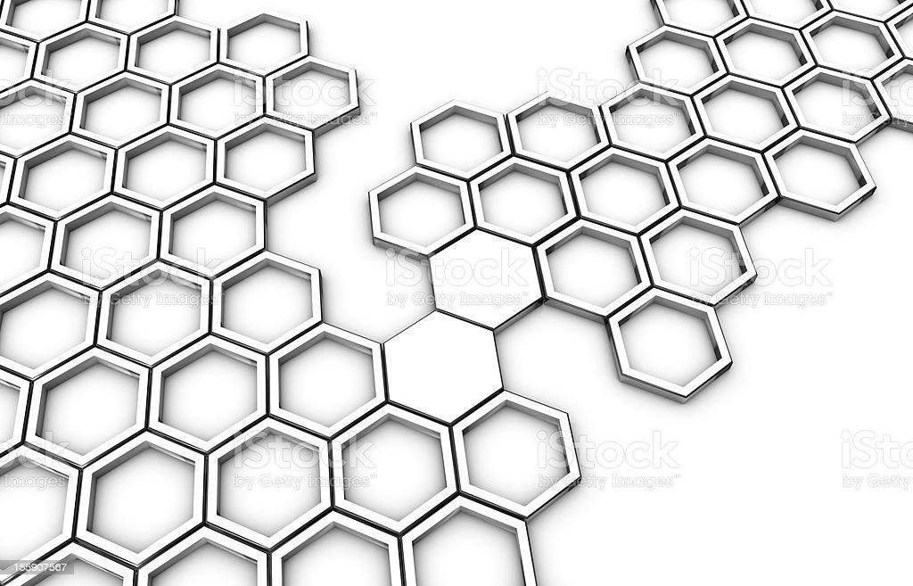 honeycomb connecting bridge stock photo