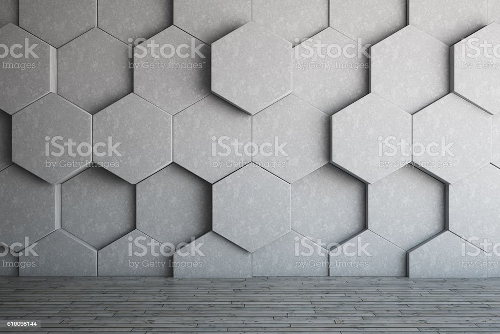 Honeycomb Wall vector art illustration