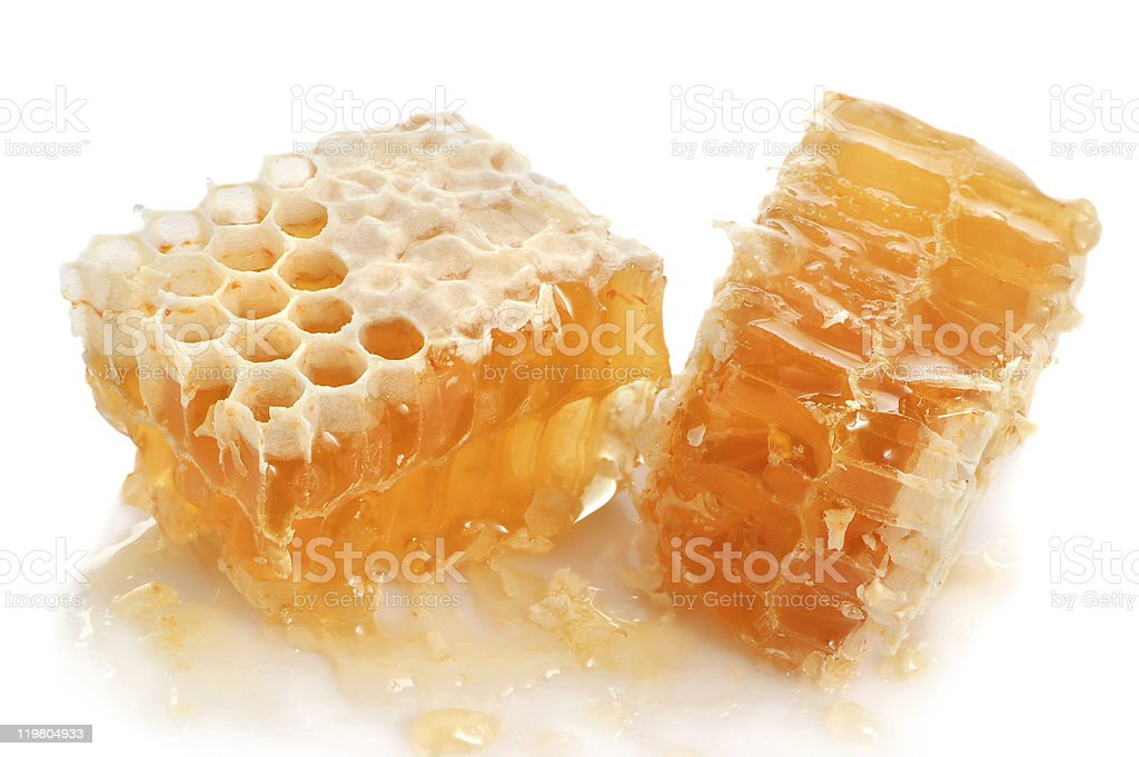 Honeycombs full of orchard honey stock photo