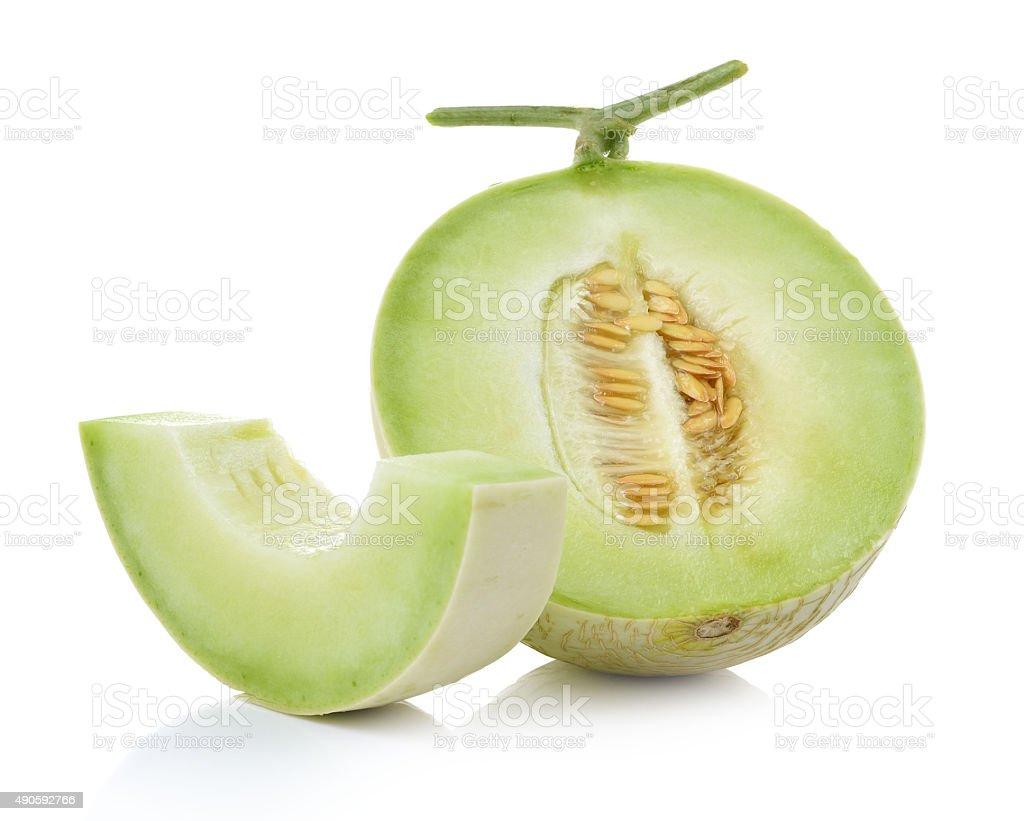 Melon miodowy na białym tle zbiór zdjęć royalty-free