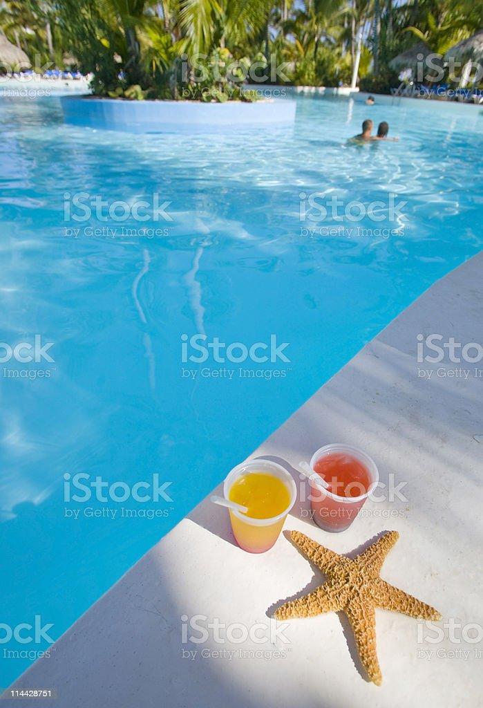 Honeymoon and drinks royalty-free stock photo