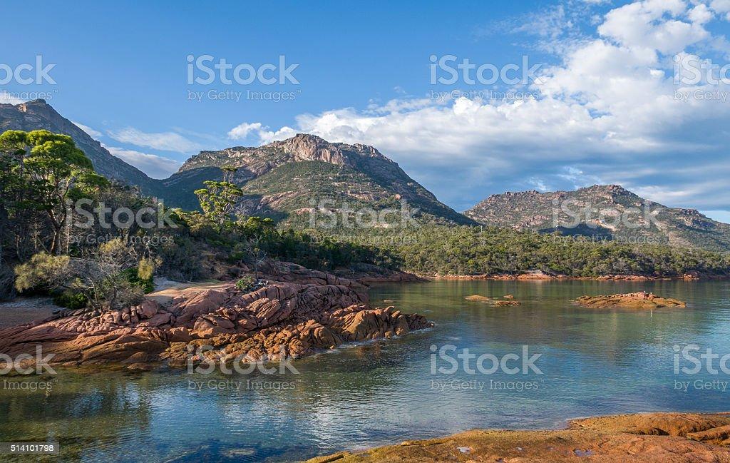 Honeymoon Bay, Freycinet National Park, Tasmania stock photo