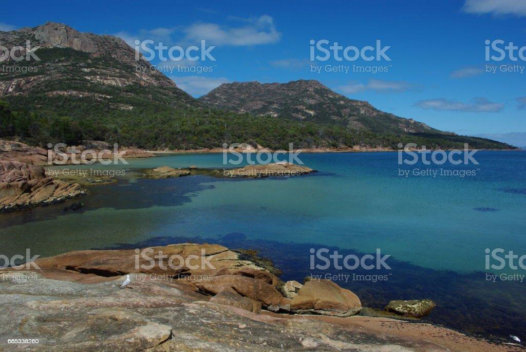 Honeymoon Bay stock photo