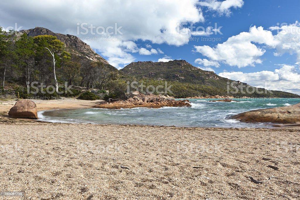 Honeymoon Bay - Tasmania royalty-free stock photo
