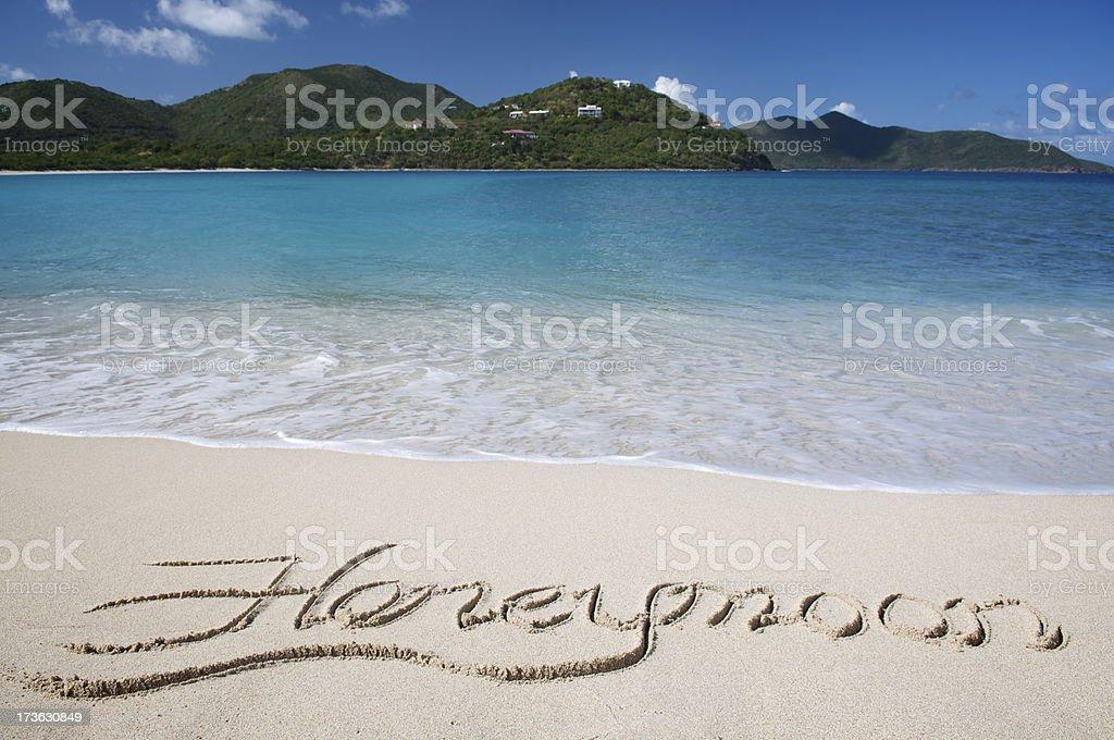 Honeymoon Beach Scene royalty-free stock photo