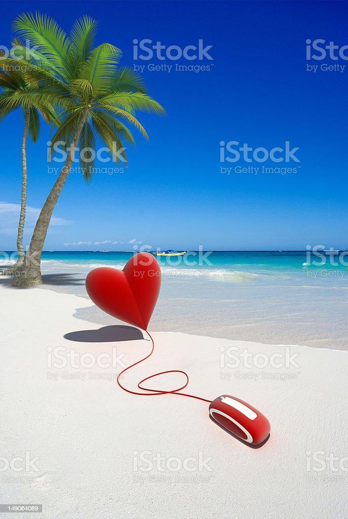 Honeymoon  booking royalty-free stock photo