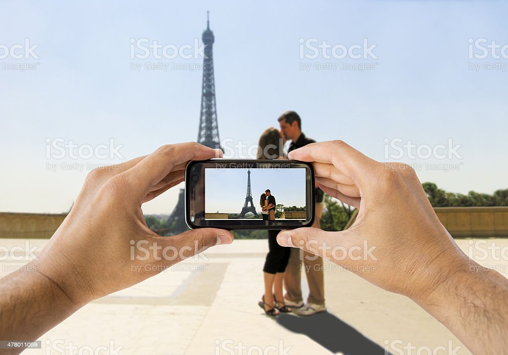 honeymoon in Paris royalty-free stock photo